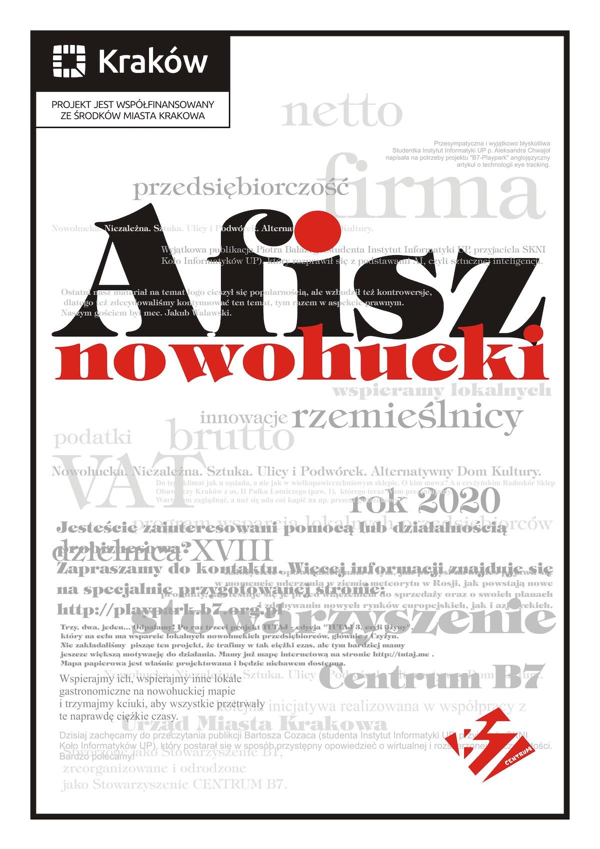 AFISZ NOWOHUCKI PLAKAT
